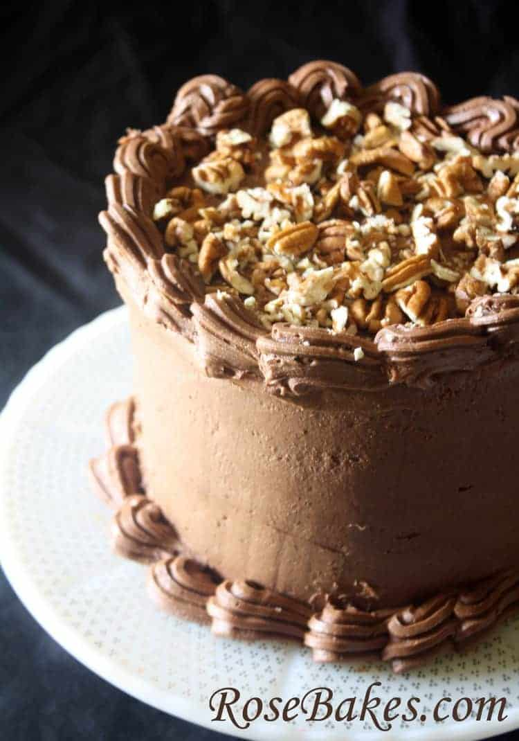 German Chocolate Cake with Chocolate Cream Cheese Frosting ...