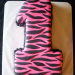 Hot Pink Zebra Stripes 1 Cake