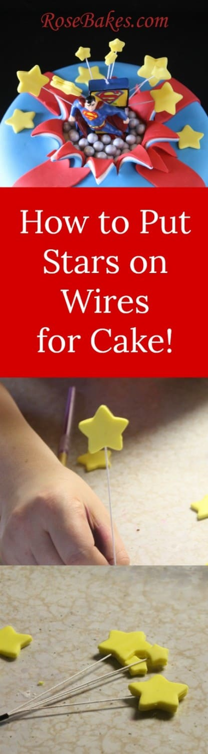 How to Put Stars on Wires for Cake