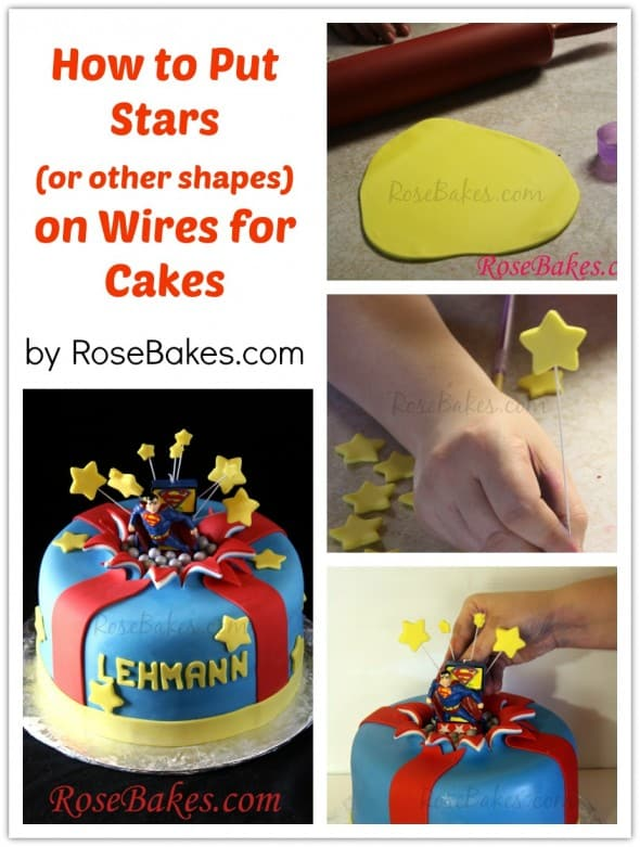 How to Put Stars on Wires for Cakes