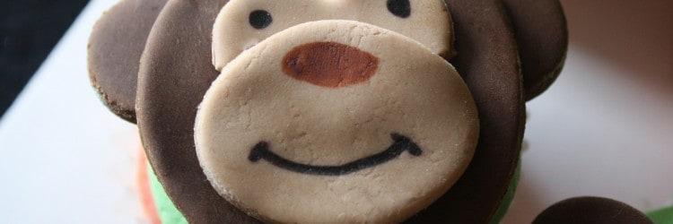 Monkey Face Cupcake