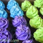 Peacock Cupcakes witih Gold Sugar 3