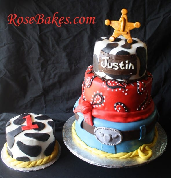 Cowboy Western Cakes And Smash Cakes + How To Stack Cake