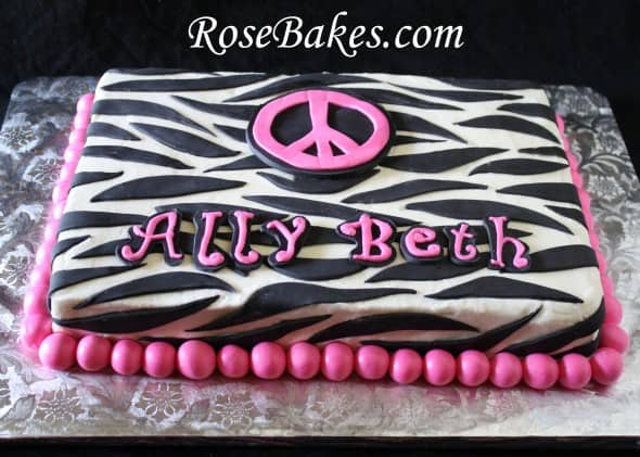 Zebra Stripes Sheet Cakes Birthdays Amp Graduation With