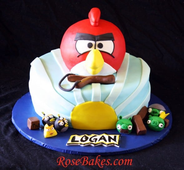 3D Angry Birds Birthday Cake