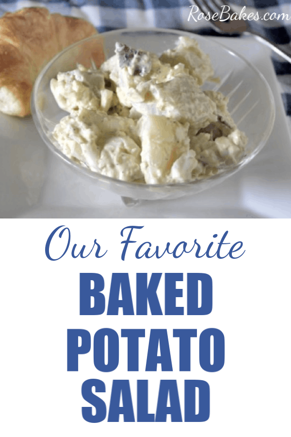 baked potato salad with pinterest text