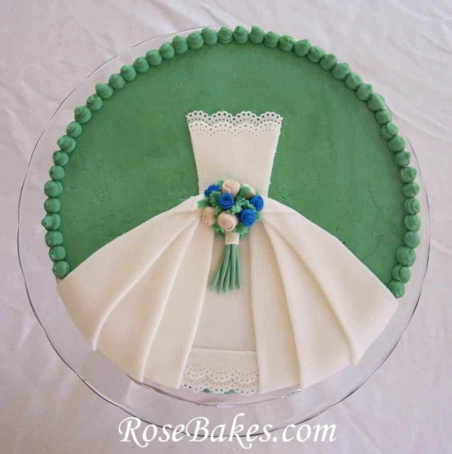 cakes for wedding showers wedding dress bridal shower cake 2371