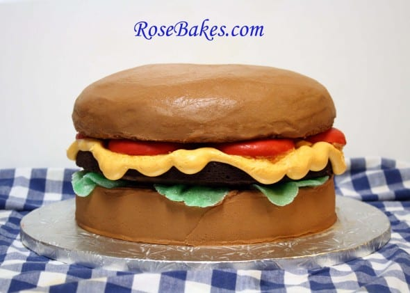 Cheeseburger Cake Front