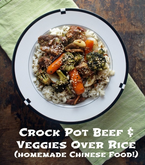 Crock Pot Beef & Veggies Over Rice