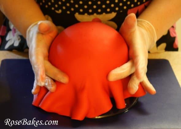 How Do You Cover A Square Cake With Fondant