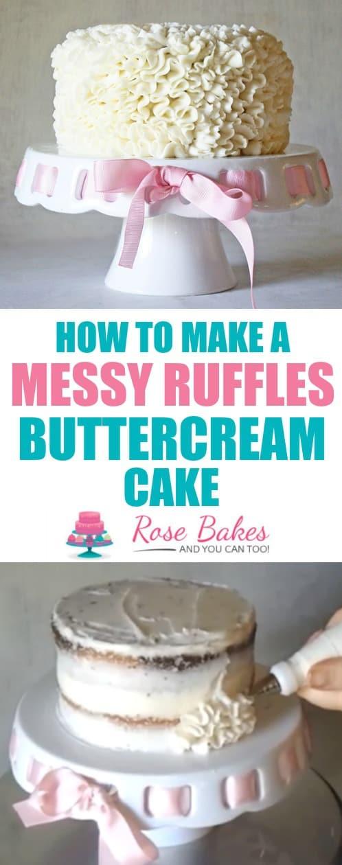 Messy Ruffles Buttercream Cake Pinterest Image