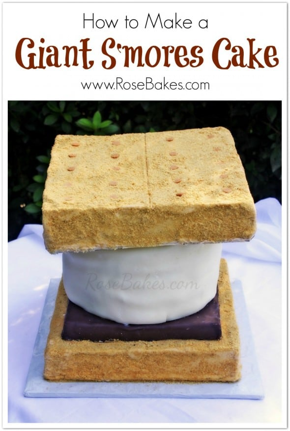 How to Make a Giant S'Mores Cake