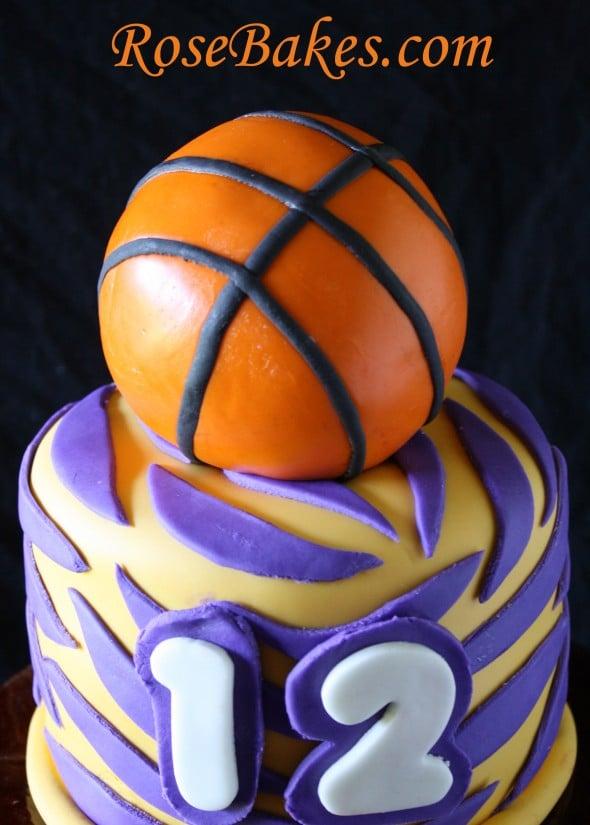 Awesome Lsu Basketball Birthday Cake Funny Birthday Cards Online Kookostrdamsfinfo