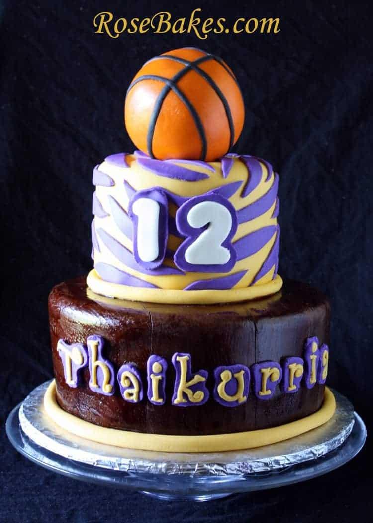 Lsu Basketball Birthday Cake