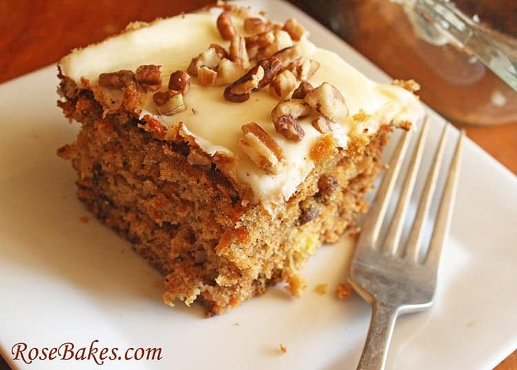 Loaded Carrot Cake Close