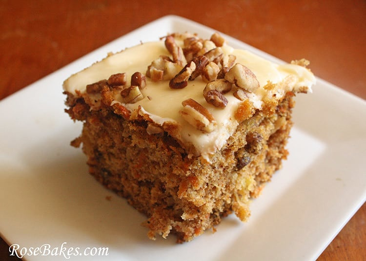 Loaded Carrot Cake Slice