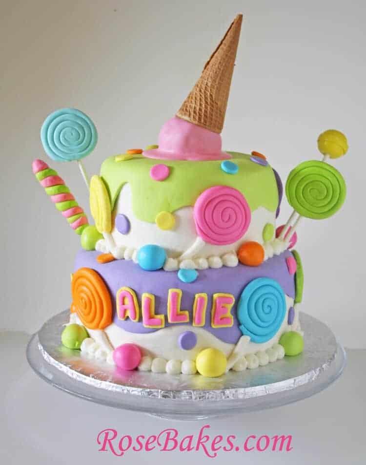 Lollipops & Ice Cream Candyland Cake