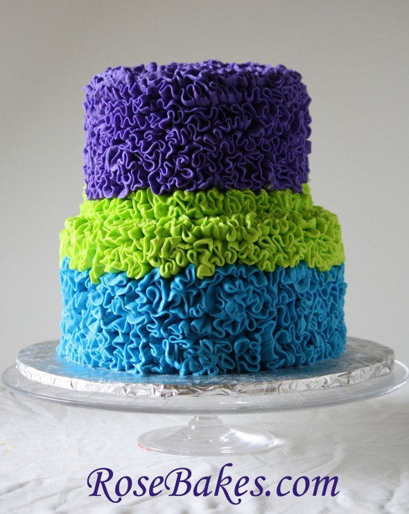 Buttercream Ruffle Cake Decorating : Messy Buttercream Ruffles Birthday Cake {Bright Bold ...