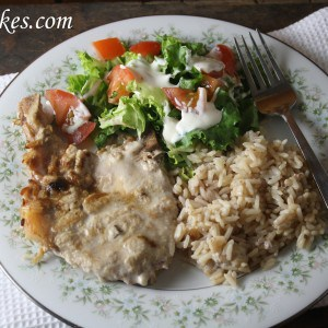 Monicas Pork Chops & Rice
