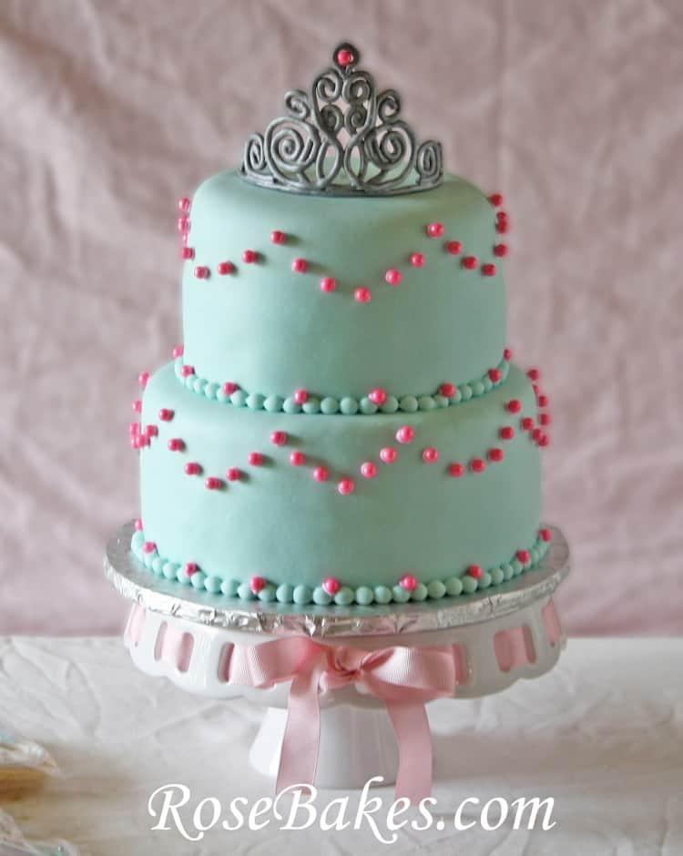 Pink & Turqoise Princess Cake