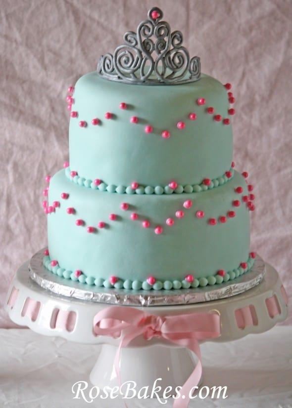 Happy Birthday Crown Cake princess birthday : tiara cake , carriage ...