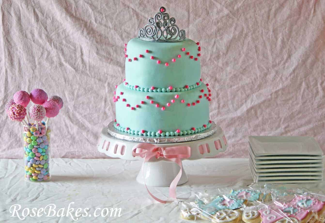 Princess Birthday Tiara Cake Carriage Cookies u0026 Sparkley Pink Cake Pops! & Princess Birthday: Tiara Cake Carriage Cookies u0026 Sparkley Pink ...