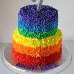 Rainbow Messy Ruffles Cake 3