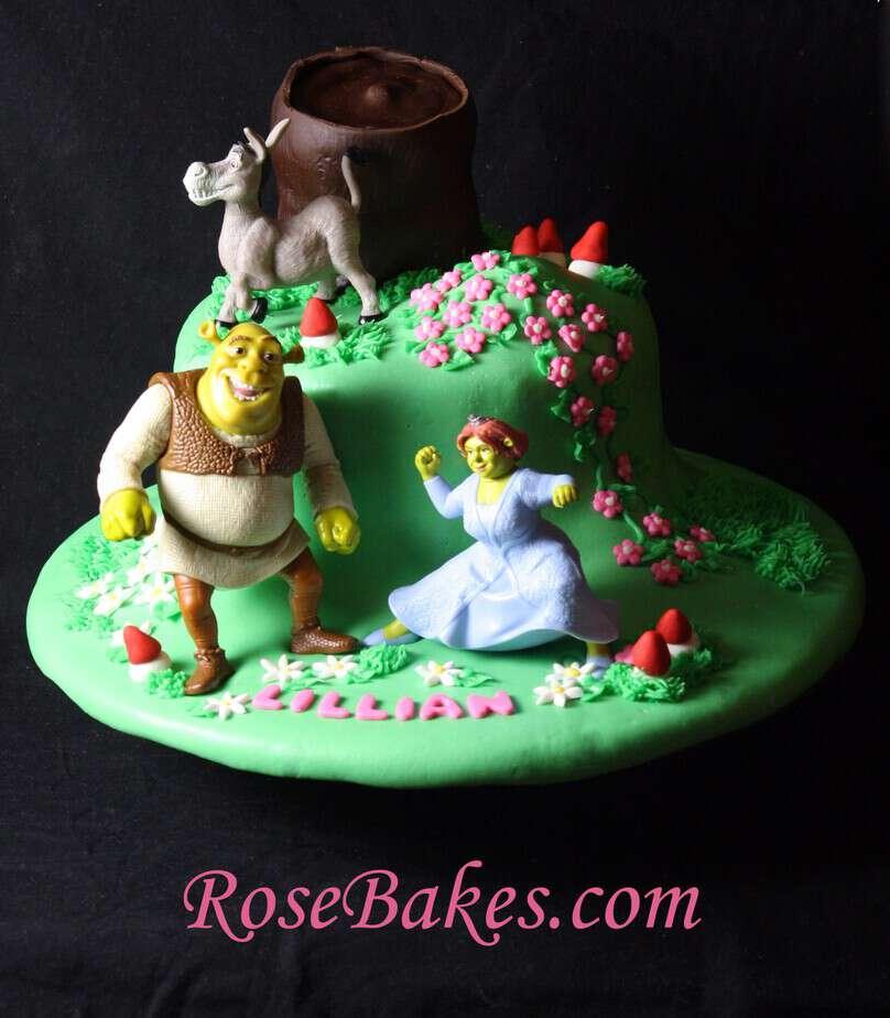 Cool Shrek Birthday Cake Funny Birthday Cards Online Elaedamsfinfo