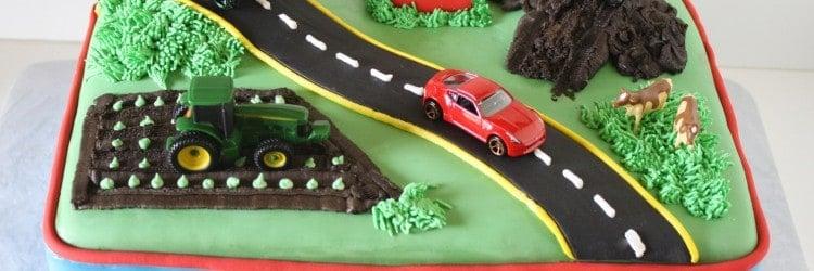 Transportation Birthday Cake