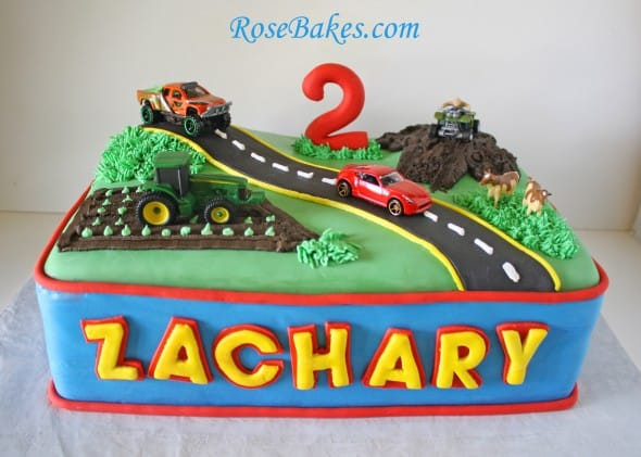 Transportation Birthday Cake Car Truck Tractor Amp 4