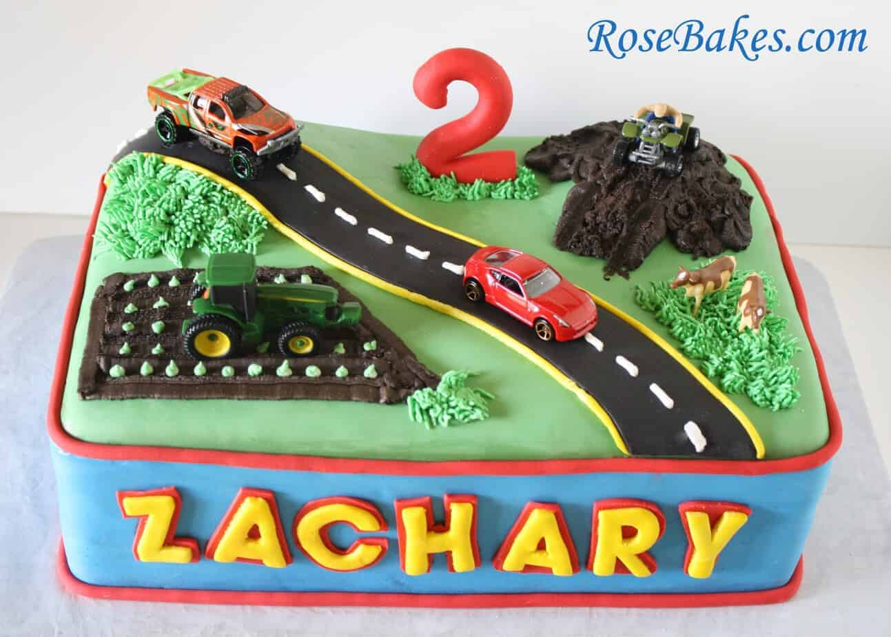 How To Make Remote Control Truck Cake