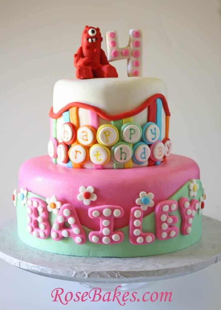 Yo gabba gabba birthday cake cake pops for Decor yo pops