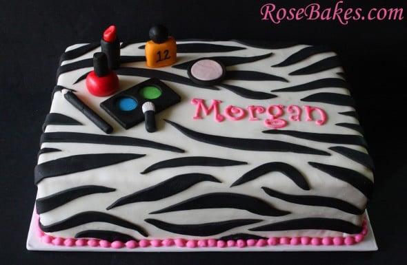 Zebra Make Up Cake