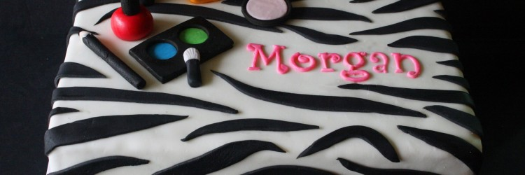 Zebra Make Up Cake