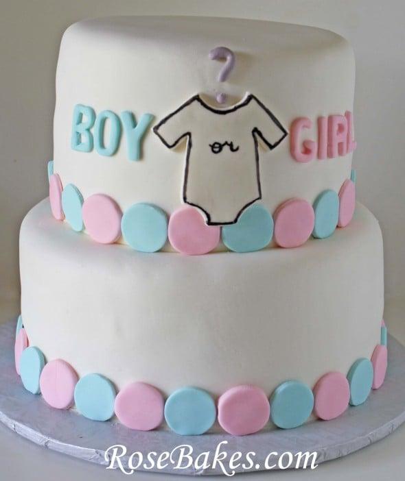 Boy Girl Gender Reveal Cake