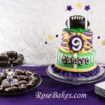 Girly LSU Football Cake and Football Oreos Table