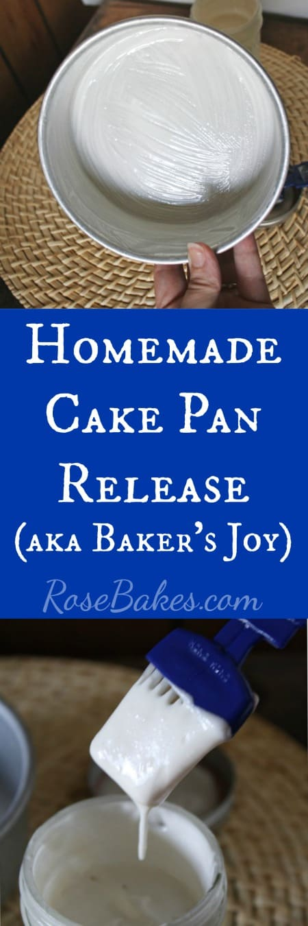"""Homemade Cake Pan Release - a homemade """"Baker's Joy"""" if you will that will prevent cakes from sticking every time! 