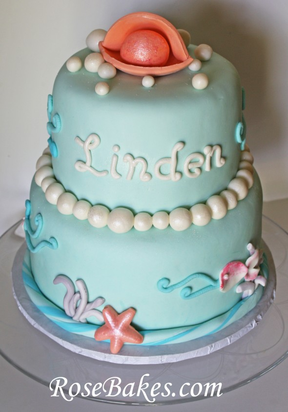 Under the Sea Mermaid Pearl Cake 2