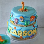 Bubble Guppies Birthday Cake and Smash