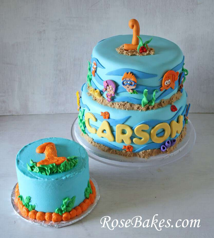 Bubble Guppies Birthday & Smash Cake