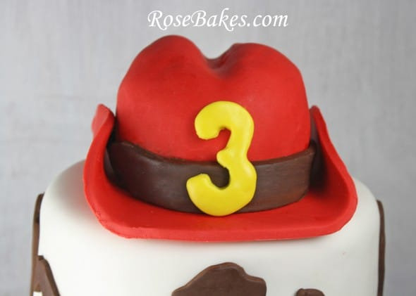 Western Cowboy Birthday Cake With Red Hat