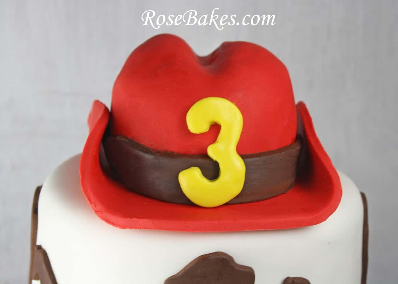 Cowboy Western Horse Cake Red Hat Rose Bakes