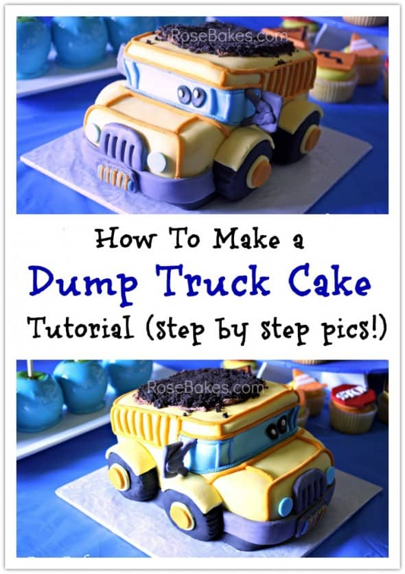 How To Carve A 3 D Dump Truck Cake Or Smash Cake