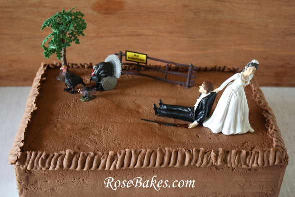Turkey Hunting Cake Decorations : Chocolate Buttercream Hunter Groom s Cake + Durable ...