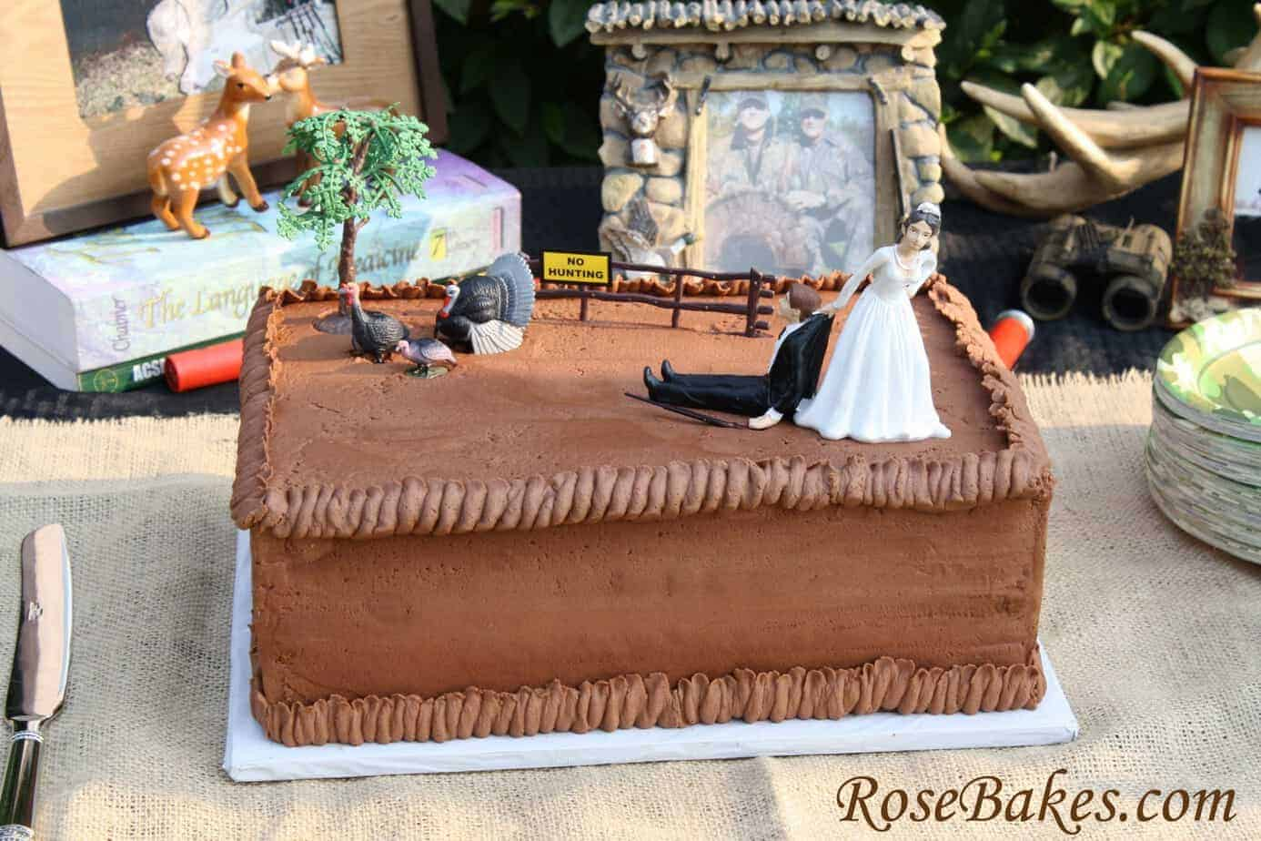 Chocolate Rectangle Wedding Cake Toppers
