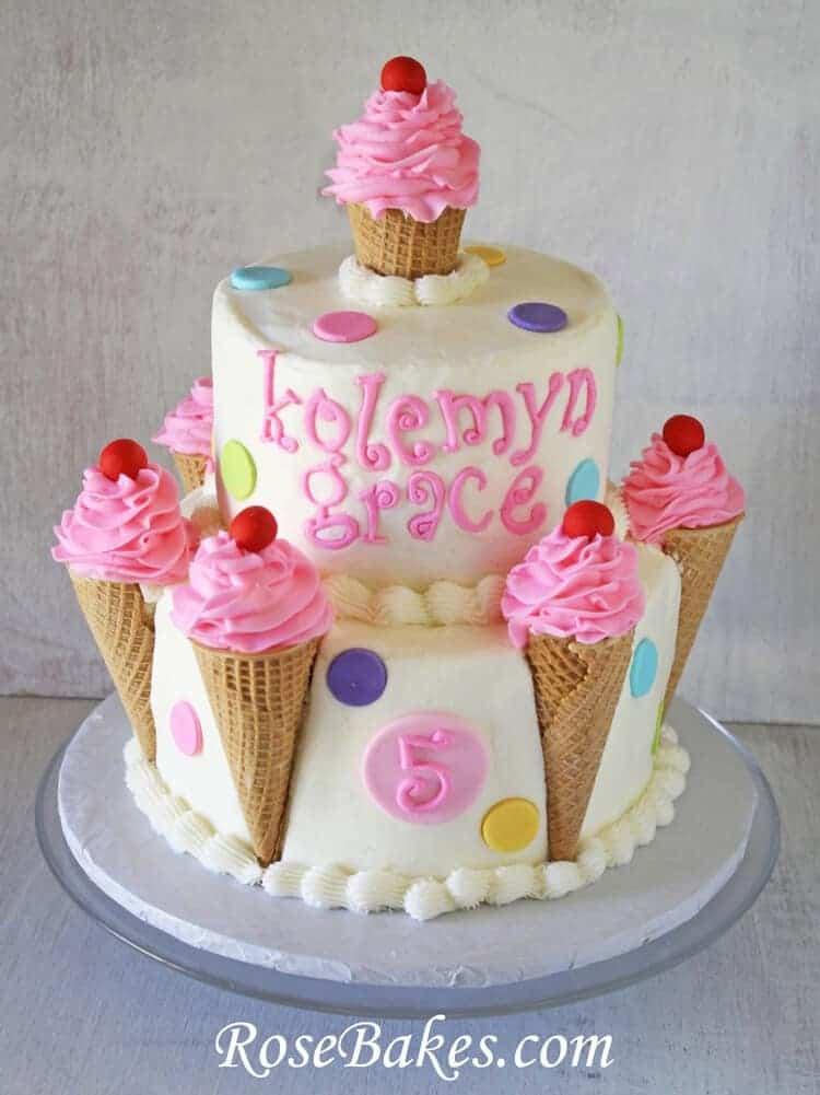 Ice Cream Cones Birthday Cake