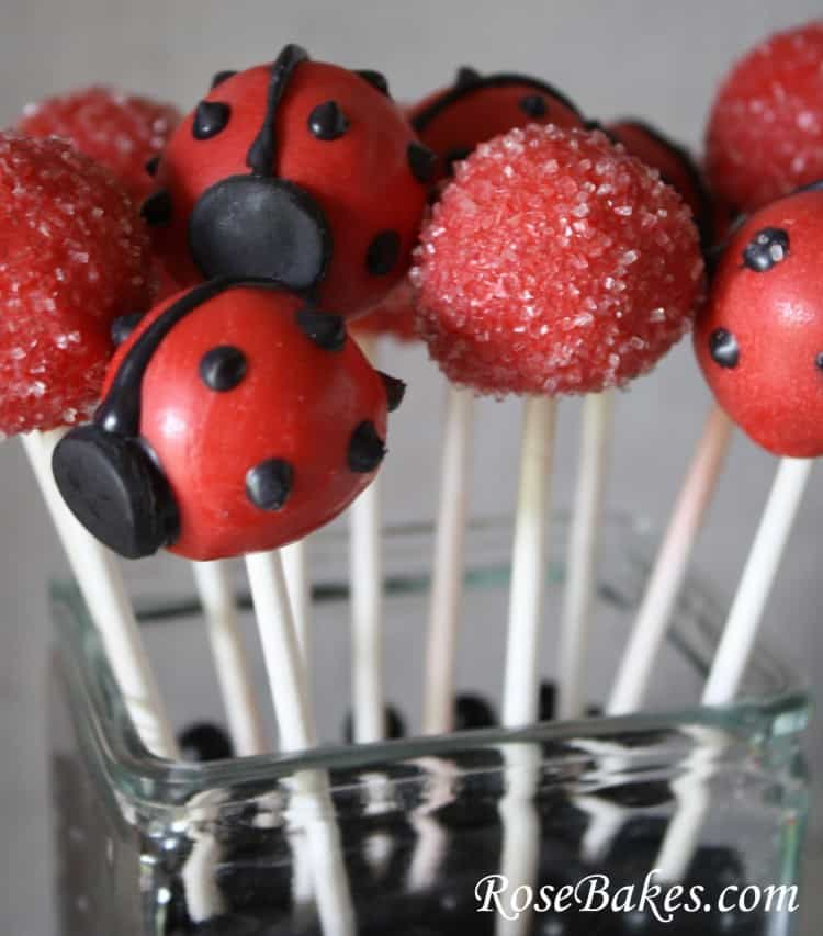 Ladybug and Red Cake Pops