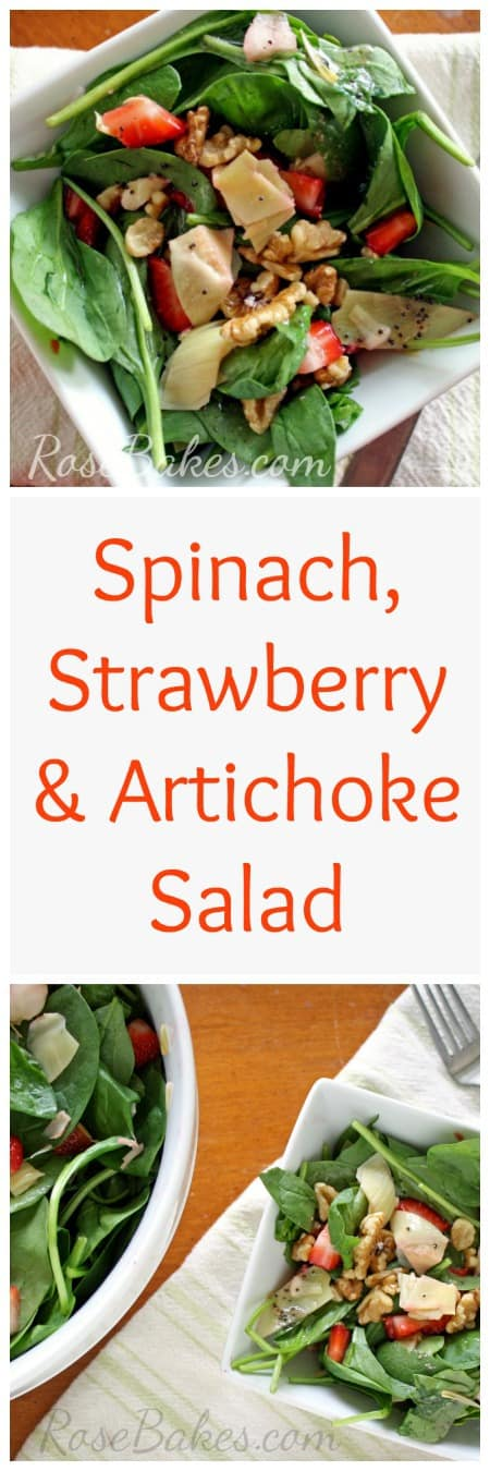 Spinach, Strawberry & Artichoke Salad