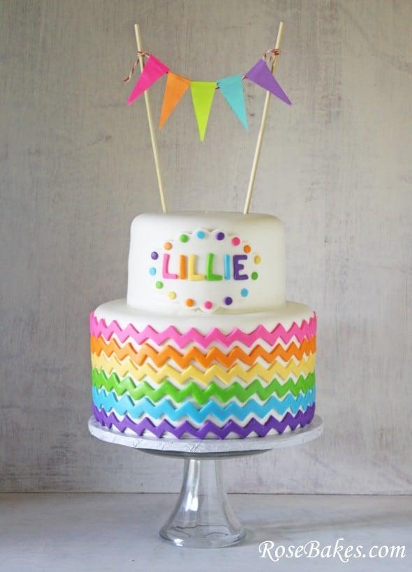 Jelly Rainbow Birthday Cake Pandan cake picture Cake Blog