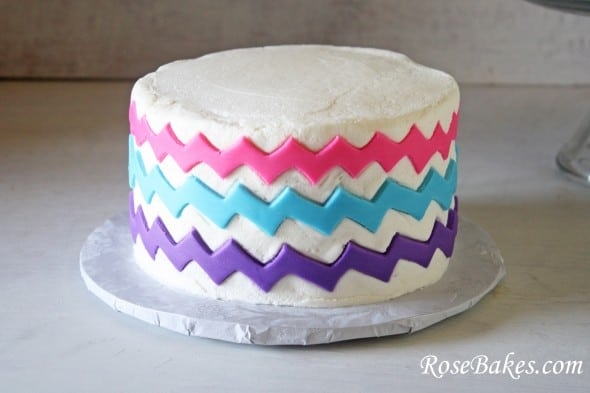 Rainbow Chevron Birthday Cake Smash Cake